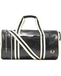 Fred Perry Classic Barrel Bag Black & Ecru - Negro