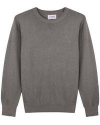 Farah Grey Mullen Merino Wool Crew Knit Grey
