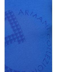 Armani Blaues Druck-T-Shirt