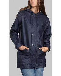 Petit Bateau Navy Iconic Waterproof Coat - Blue