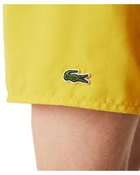 Lacoste Shorts de baño de secado rápido Mh 6270 Anthemis - Amarillo