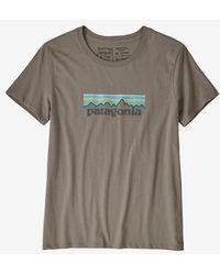 Patagonia Feather Gray Camiseta Ws Pastel P 6 Logo Organic Crew