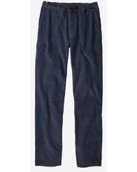 Patagonia Mens Organic Cotton Gi Pants New Navy Corduroy Nnco - Blue