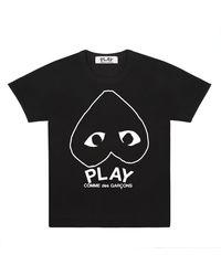 COMME DES GARÇONS PLAY Spielen Sie T-Shirt Schwarz P1T114