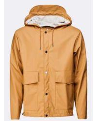 Rains Https://www.trouva.com/it/products/-khaki-short-hooded-coat - Multicolore