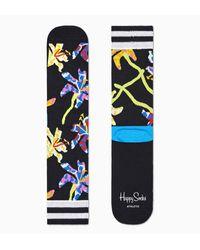 Happy Socks Calcetines portivos negros Lily Crew - Multicolor