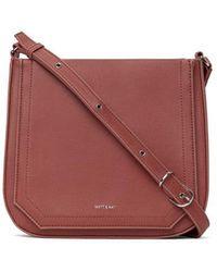 Matt & Nat Vegan Leather Mara Crossbody Bag - Red