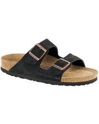 Birkenstock Sandalo da uomo in pelle scamosciata Arizona - Marrone