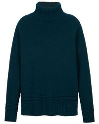 Markus Lupfer Holly Chunky Rib Poloneck Jumper - Verde