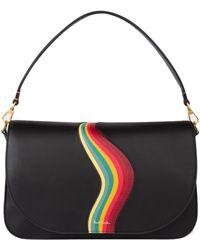 Paul Smith Borsa Saddle Media Con Stampa Swirl - Multicolore