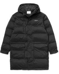 Carhartt Weber Coat Black Down Jacket - Negro