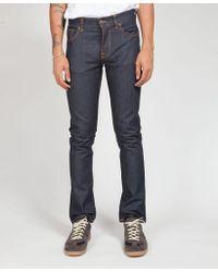 Nudie Jeans Navy L 30 Grim Tim Dry Open Jean - Azul