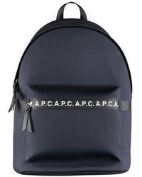 A.P.C. Saville Backpack Dark Navy - Blue