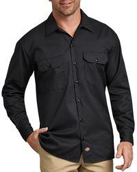 Dickies Black Long Sleeves Work Shirt
