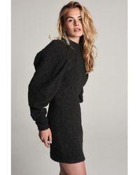 Zoe Karssen Dress Eyes Puff Sleeve - Black