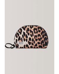 Ganni Pochette de maquillage léopard - Multicolore