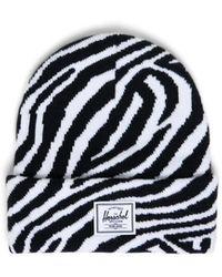Herschel Supply Co. Zebra Print Elmer Beanie - Black