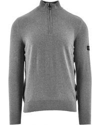 Barbour International Cotton Half-zip Sweatshirt - Gray