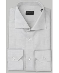Ermenegildo Zegna Grey Marl Linen Shirt