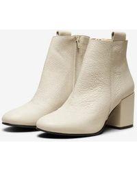SELECTED Stivali in pelle Sana - Neutro