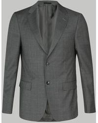 Z Zegna Costume à carreaux gris clair