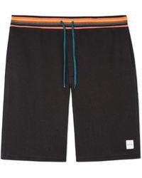 Paul Smith Shorts Jersey Rayas Negras - Negro