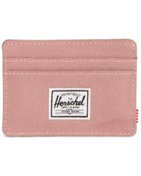 Herschel Supply Co. Ashrose Fabric Charlie Rfid Blocking Card Holder - Pink