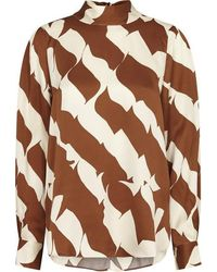 SELECTED Distance Blouse - Brown