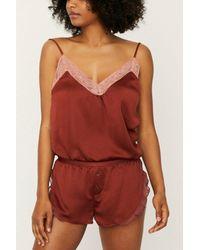 Love Stories Mae Chocolate Pajama Shorts - Red