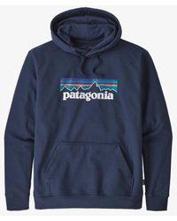 Patagonia Sweat à Capuche Ms P 6 Logo Uprisal Classic Navy - Bleu