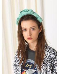 Becksöndergaard Headband Summer Stripes Grass Green - Multicolour