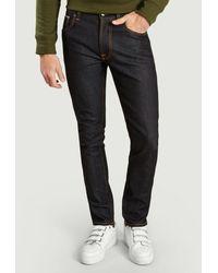 Nudie Jeans Vaqueros Dean Japan Orillo Lean de algodón orgánico de mezclilla - Multicolor