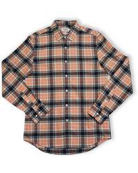Farah Brewer Check Long-sleeved Shirt (peach Solstice) - Multicolour