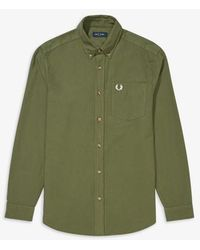 Fred Perry Camisa Overdyed Verde Militar