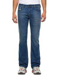 DIESEL Zatiny 9 Ei Bootcut Jeans Mittelblau