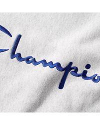 Champion Felpa da uomo girocollo in cotone grigio mélange 210975-LOXGM - Multicolore