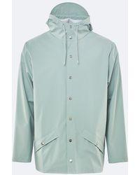 Rains Dusty Mint Waterproof Jacket - Green
