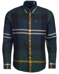 Barbour Dunoon Shirt Seaweed Tartan - Blue