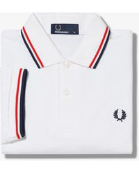 Fred Perry Polo à double pointe - Blanc