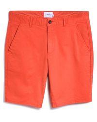 Farah Pantalones cortos chinos de sarga teñida Hawk Topanga naranja