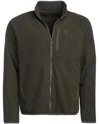 Barbour Essential Fleece Zip Through Forest - Grün
