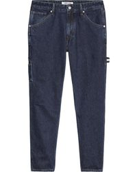 Tommy Hilfiger Recycled Tapered Carpenter Jeans Dark Blue Rigid