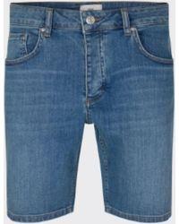 Minimum Pantalones Cortos Samn Azul Medio