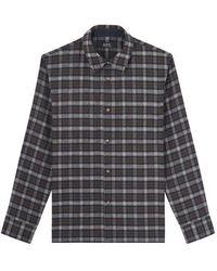 A.P.C. Land Overshirt Khaki Multi - Grey