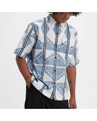 Levi's Camicia blu con collo camp