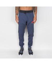 Nike Thunder Blue / Anthracite / University Red Air Fleece Jogger Hombre - Azul