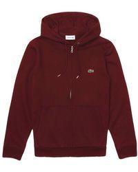 Lacoste Zip Hood Sh 4286 Bordeaux - Red