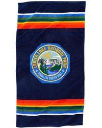 Pendleton Telo mare stampato Crater Lake - Blu
