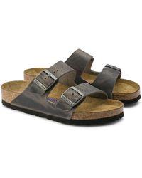Birkenstock - Sandale en cuir nubuck huilé Iron Arizona - Lyst