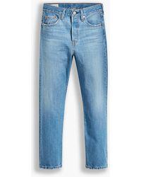 Levi's Indigo 501 Mittellange Crop-Jeans - Blau